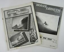 Vintage Surfing Magazine Wave Length Hawaii Local Pro Tour Photos  #1 & #2 1986