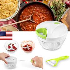 Manual Pull Vegetable Onion Garlic Food Quick Chopper Cutter Slicer Peeler Dicer