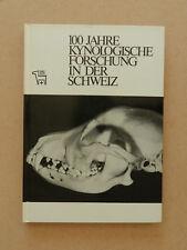 100 Jahre kynologische Forschung in der Schweiz