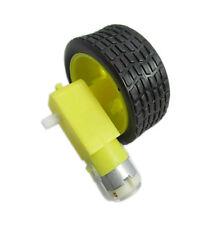 2x Smart Car Robot Plastic Tire Wheel & DC Biaxial Gear Motor for Arduino parts