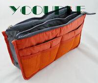 Handbag Purse Dual Organizer Insert mp3 phone cosmetic Storage Nylon Bag in Bag