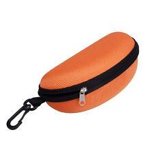 NEW Portable Zipper Eye Glasses Sunglasses Clam Shell Hard Case Protector