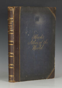 BLACK'S GENERAL ATLAS OF THE WORLD New Edition 1867 - 56 colour maps