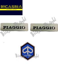 11437 - TARGHETTA SERBATOIO + SCUDETTO PIAGGIO 50 SI CIAO BRAVO BOXER GRILLO