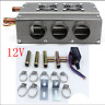 6-Port Two Side Iron Compact 12V Car Heater Heating Fan w/Speed Switch Universal