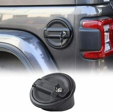 For Jeep JL Gas Cap Cover, Locking Fuel Tank Door for 2018-2020 Jeep Wrangler JL