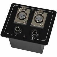 Floor / Surface Mount Stage Box with Two XLR Female and Two