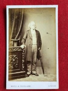 cdv portrait. Sir John Bowring, former Governor of Hong Kong, circa 1870