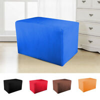 1Pc Ottoman Sofa Cover Stretchy Footstool Slipcover Soft Comfortable Protector