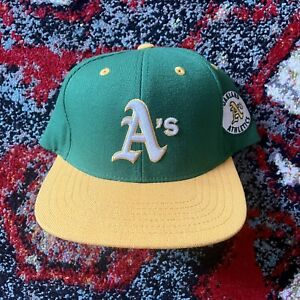 """Oakland A's American Needle """"blockhead"""" snapback hat, excellent condition"""