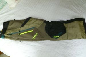 Klim Dakar Over The Boot Pants OTB Size 34 Regular Vivid Sage NWT