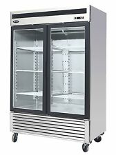 Atosa MCF8703, Bottom Mount 2-Glass Door Freezer