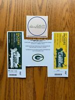 Packers NFL Playoffs Ticket Strip 2 ticket stub Seahawks NFC Championship Game