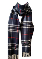 New Winter Womens Mens 100% Cashmere Wool Wrap Scarf Plaid Scarves (#36)