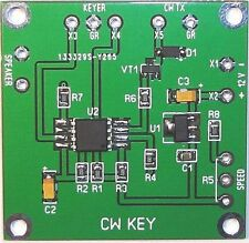 CW Key Assembled PCB Ham Radio Morse Code kit keyer