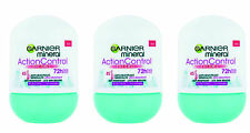3X Garnier Mineral Action Control Thermic Antiperspirant Deo Roll On for Women