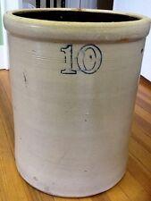 Antique 10 Gallon Stoneware  CROCK/BARREL-Ransbottom, Ohio(?) c.1900