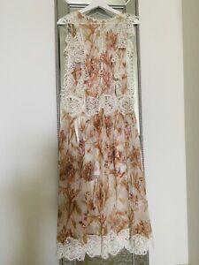 Zimmermann Silk Midi Dress Size 0 Worn Once