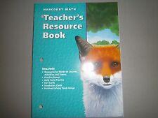 Harcourt Math, Grade 5, Teacher's Resource Book, Harcourt 2002 015320950X
