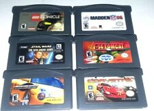 6 Gameboy Advance Games GBA SP DS DSl ~ LEGO BIONICLE MADDEN 06 STAR WARS F-14
