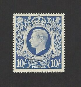 GB 1939 10/- blue high value MH MM £40