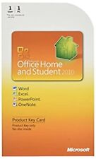 Microsoft Office 2010 Home and Student Product Key Card (PKC) - Brand New - C1