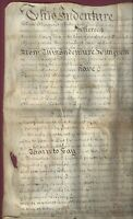 Early Quaker Document, 1747, Fallowfield, Chester County, PA, Vellum Deed