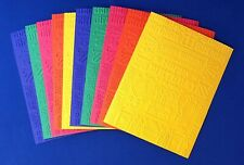 10 BIRTHDAY COLLAGE Embossed A2 Card Fronts Recollection Primary Cardstock