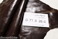 Sm leather piece: Jameson Brown. Rich, smooth grain. Appx 1.5 sqft. D71X26-5