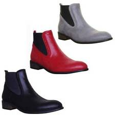 Elasticated 100% Leather Ankle Boots for Women