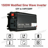 Inversor Convertidor 1500W 12V a 240V Power Inverter Onda sinusoidal modificada