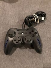 PLAYSTATION 3 PS3 WIRED AIR FLO CONTROLLER 220030 USB PC Power A Blue LED Fans