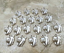 20 Pewter Chow Chow Dog Charms - 5494