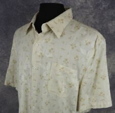 Nat Nast Mens Shirt Size Medium SS 100% Silk Palm Tree Button Down NWT