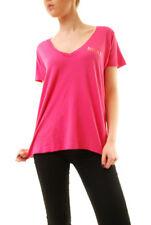 Wildfox women's Short Sleeve Hey Sister Skater V Tee Pink S RRP £60 BCF612