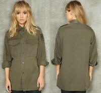 MILITARY ARMY KHAKI VINTAGE SHIRT JACKET CAMO LADIES AUSTRIAN 8 10 12 14 16 18