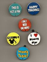 "DISNEY PIN HM ""TRADING PHRASES"" COMPLETE 6 PIN SET WITH THE COMPLETER PIN"