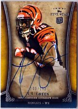 A.J. Green 2011 Topps Five Star Auto Rookie Card Signed on Card Furures on card