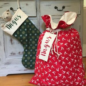 Personalised Christmas Stockings And Santa Sacks, Quality Australian Handmade