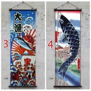 Japanese Tapestry Wall Hanging Banner Flag Sushi Restaurant Home Retro Decor Art