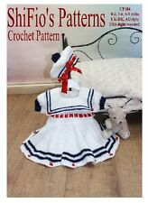 CROCHET PATTERN for BABY SAILOR DRESS PATTERN -3 SIZES #184 by ShiFio's Patterns