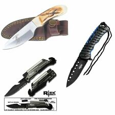[Q=3] Bone Collector Skinning Knife + Tactical Led Pocket Knife + Spring Pocket