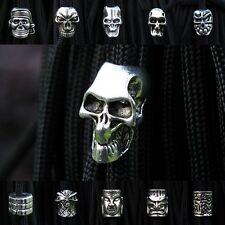 Paracord Beads Metal Charms Skull Bracelet Accessories Survival DIY Pendant