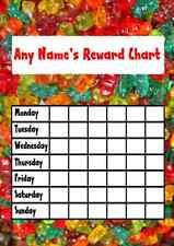 Gummy Bear Sweets Star Sticker Reward Chart