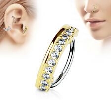 CZ Surgical Steel Ear Cartilage Earrings Daith Tragus Helix Hoop Nose Rings