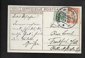 DR Ak Flugpost 1912 Offenbach