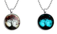 Leuchtender Lebensbaum Anhänger aus Acrylglas mit Kugelkette  Baum des Lebens