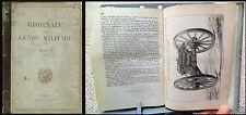 GIORNALE DEL GENIO MILITARE 1867 _ PRESA DELLA TESTA DI PONTE DI BORGOFORTE raro