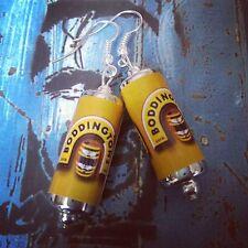 Unique BODDINGTONS EARRINGS handcrafted DESIGNER drink BEER bitter PUB bar CANS