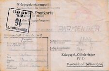 Carte Oflag IV D + Cachet Croix Rouge Calais 1944 Cover WWII Germany Brief